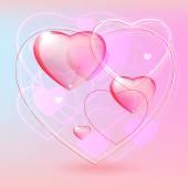 Corações de luz — Vetorial Stock