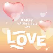Balões de coração rosa — Vetorial Stock
