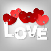 09 pinned heart — Stock Vector