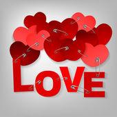 10 pinned heart — Stock Vector