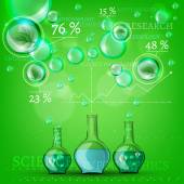 Bio infographics — Stock Vector