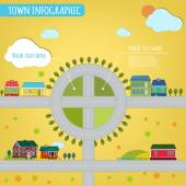 03 town infographics — Stock Vector