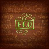 Logos and eco signs — Stock vektor