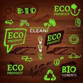 Logos and eco signs — Vector de stock