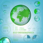 01 Infographics Bio World — ストックベクタ