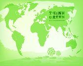 Watercolour Eco map — Stock Vector