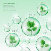 2 Infographics Bio Bubble — Stock Vector