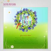 03 Easter Postcard — Stockvector