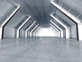 Interior empty 3D rendering — Stock Photo