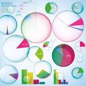 Bubble infographic — Stock Vector