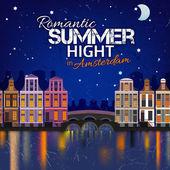 01 Holland Night Summer — Stock Vector