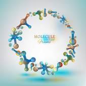 01 Molecule Frame — Stock Vector