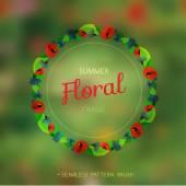 Summer wreath — Stock Vector