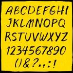 Handdrawn font — Stock Vector #74656513
