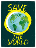 Save the world — Stock Vector