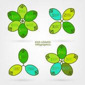 Leaves infographic — Stock Vector