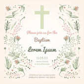 Baptism invitation card — Stock Vector