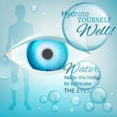 Eyes lubricating — Stockvector