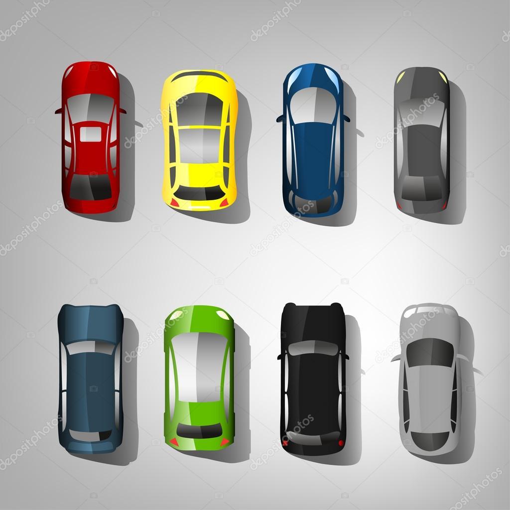 Cars Top View Stock Vector 169 Annyart 92196674