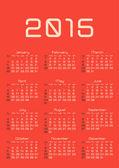 Kalendarza — Wektor stockowy