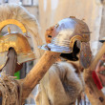 Постер, плакат: Roman empire helmets