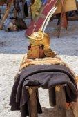 Roman empire helmet — Stock Photo