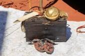 Roman empire Soldier equipment — Stock Photo