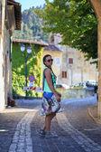Walk through an old village — Stock Photo