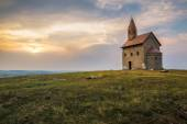 Old Roman Church at Sunset in Drazovce, Slovakia — Stock Photo