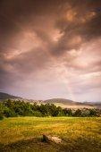 Rainbow over Landscape — Stock Photo