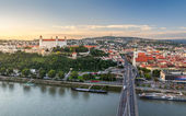 Bratislava at Sunset, Slovakia — Zdjęcie stockowe