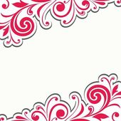 Floral decoration. Floral pattern. — Stock Vector