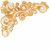 Květinové dekorace. květinový vzor. — Stock vektor