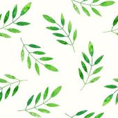 Green leaves background. — Stock Vector