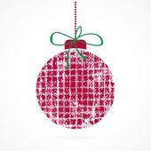 Christmas ball. Christmas decoration. — Stock Vector