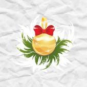 Christmas ball. Christmas decoration. — Vector de stock