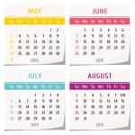 2015 calendar design — Stock Vector #59524327