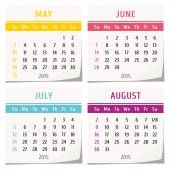 2015 calendar design — Vector de stock