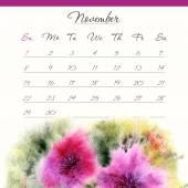 Calendar template. November 2015. — Vettoriale Stock