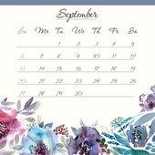 Calendar template 2015. September. — Vettoriale Stock