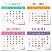 2015 calendar design — Vettoriale Stock