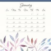 Calendar 2015, january — Vettoriale Stock