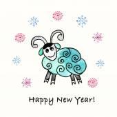 Year of  Sheep. — Stock Vector