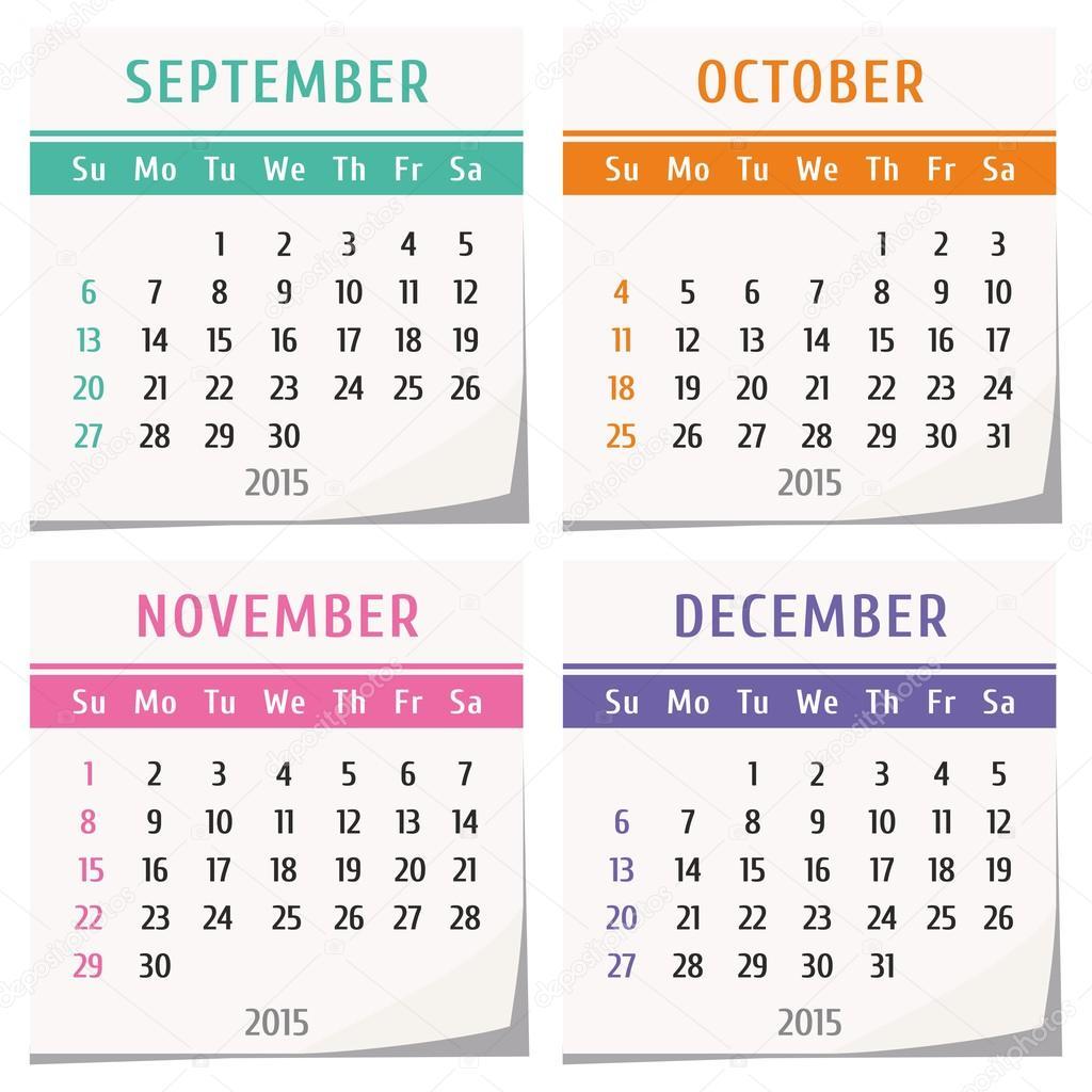 Calendar Design In Java : Календарный дизайн года — стоковый вектор