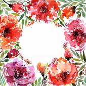 Watercolor background with flowers — Stock Vector