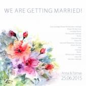 Wedding  floral card. — Stock Vector