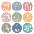 Chrismas icon set — Stock Vector #55971503