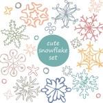 Cute snowflakes set — Stock Vector #58225661