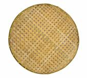 Webbed Bamboo Tray isolated on white — Stock Photo