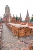 Description: Wat Chai Watthanaram, Ayutthaya Thailand — Stock Photo